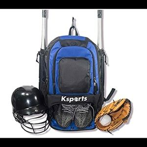 Baseball Backpack (Blue) - Bag for Baseball,